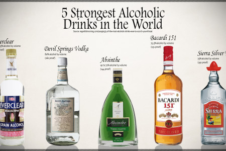 5 Strongest Alcoholic    Drinks in the World Infographic
