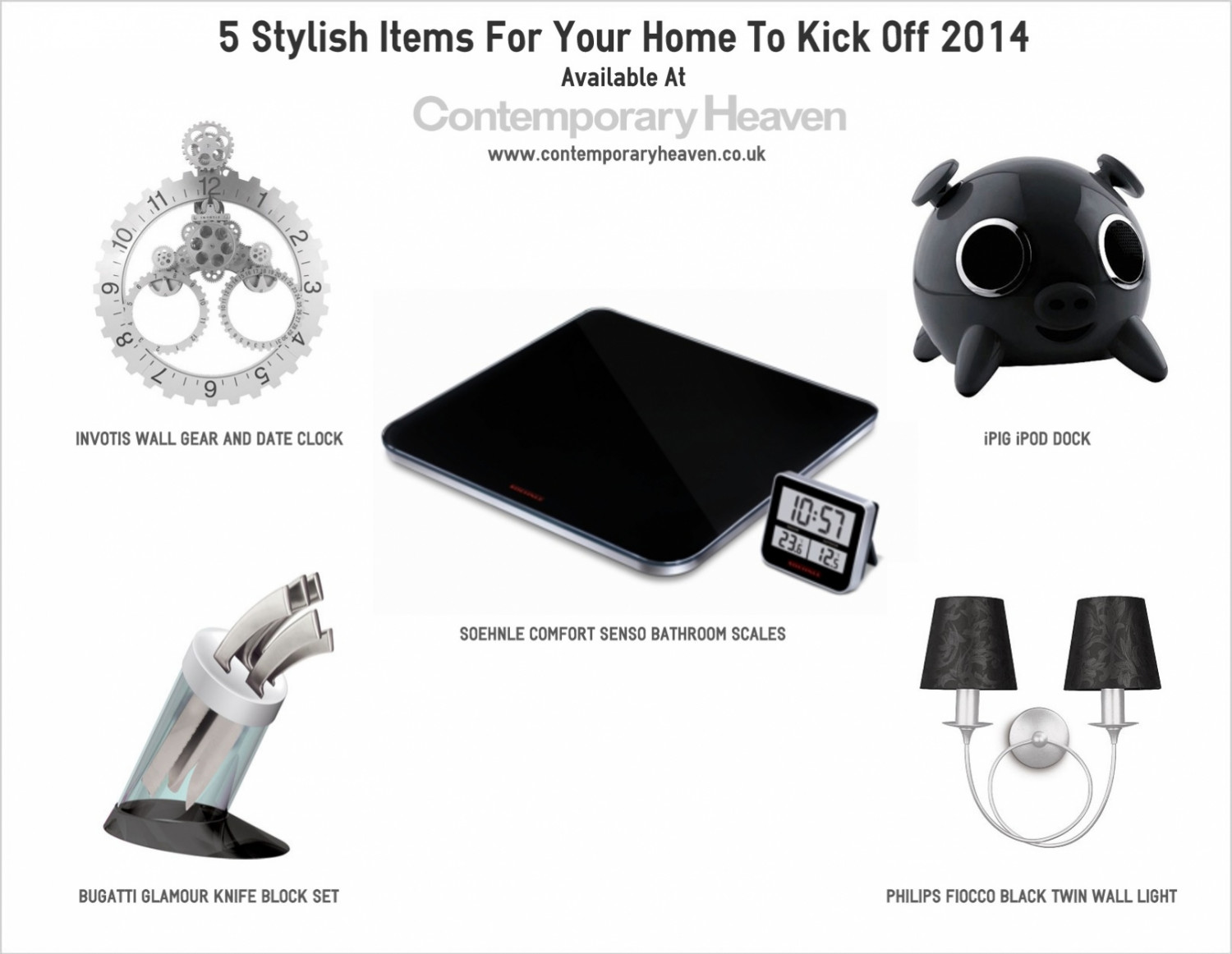 5 Stylish Items For Your Home To Kick Off 2014 Infographic
