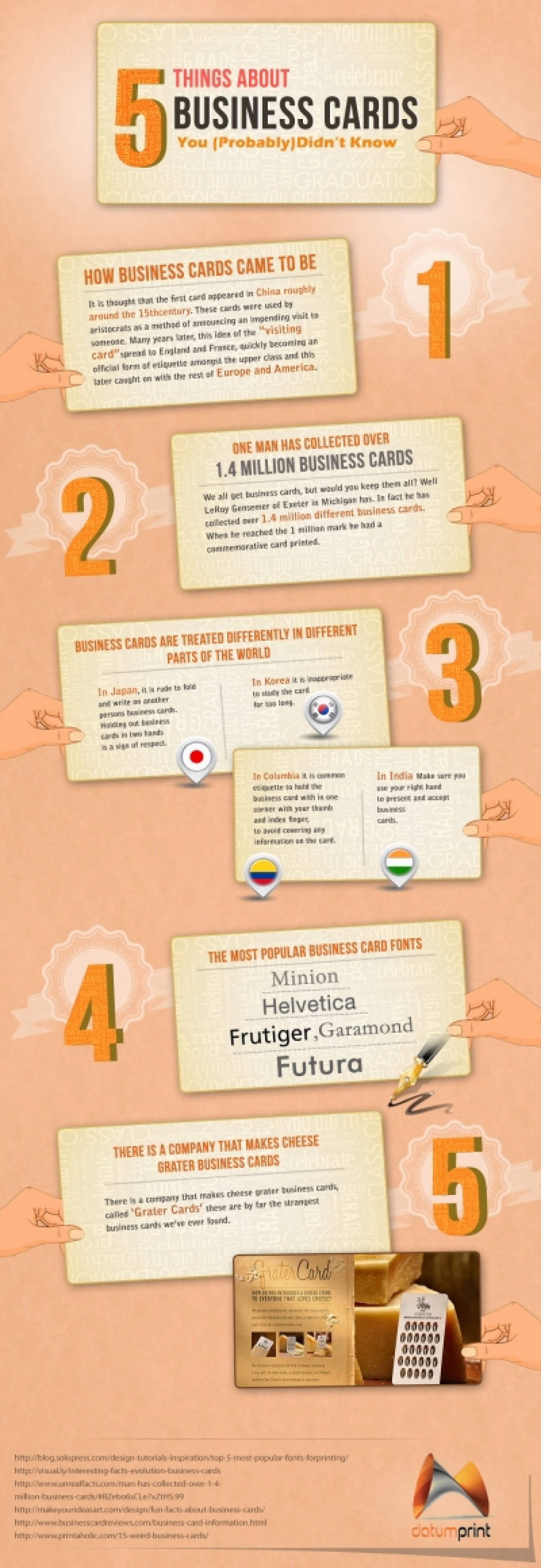 5 Things About Business Cards You Probably Didn't Know Infographic