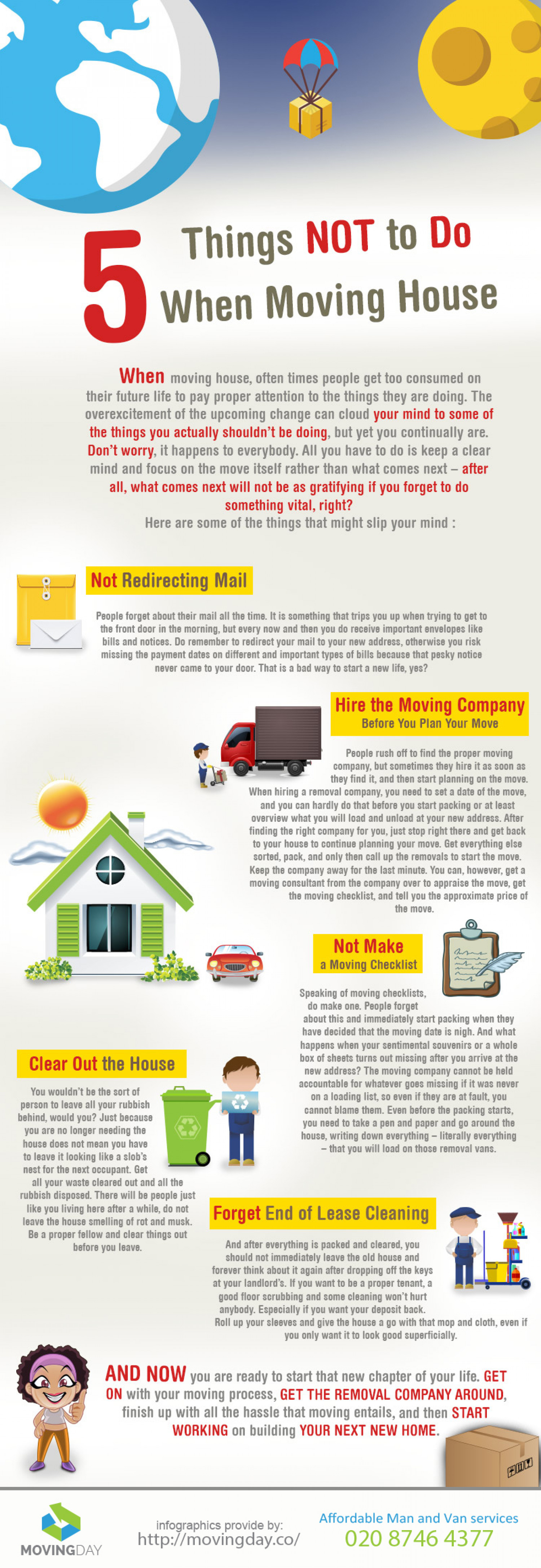 5 Things NOT to Do When Moving House Infographic