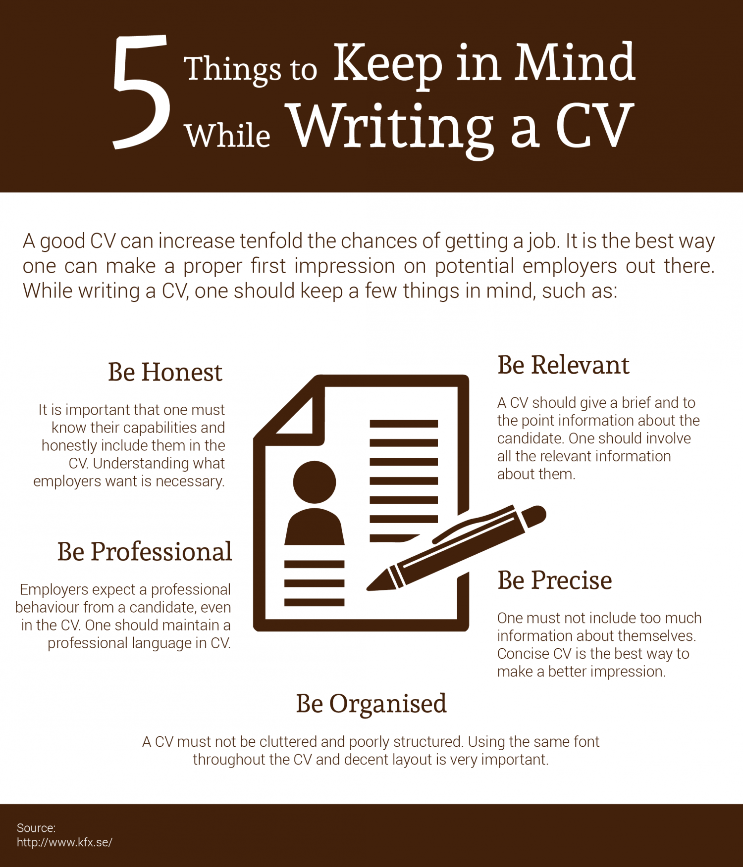 5 Things to Keep in Mind While Writing a CV Infographic