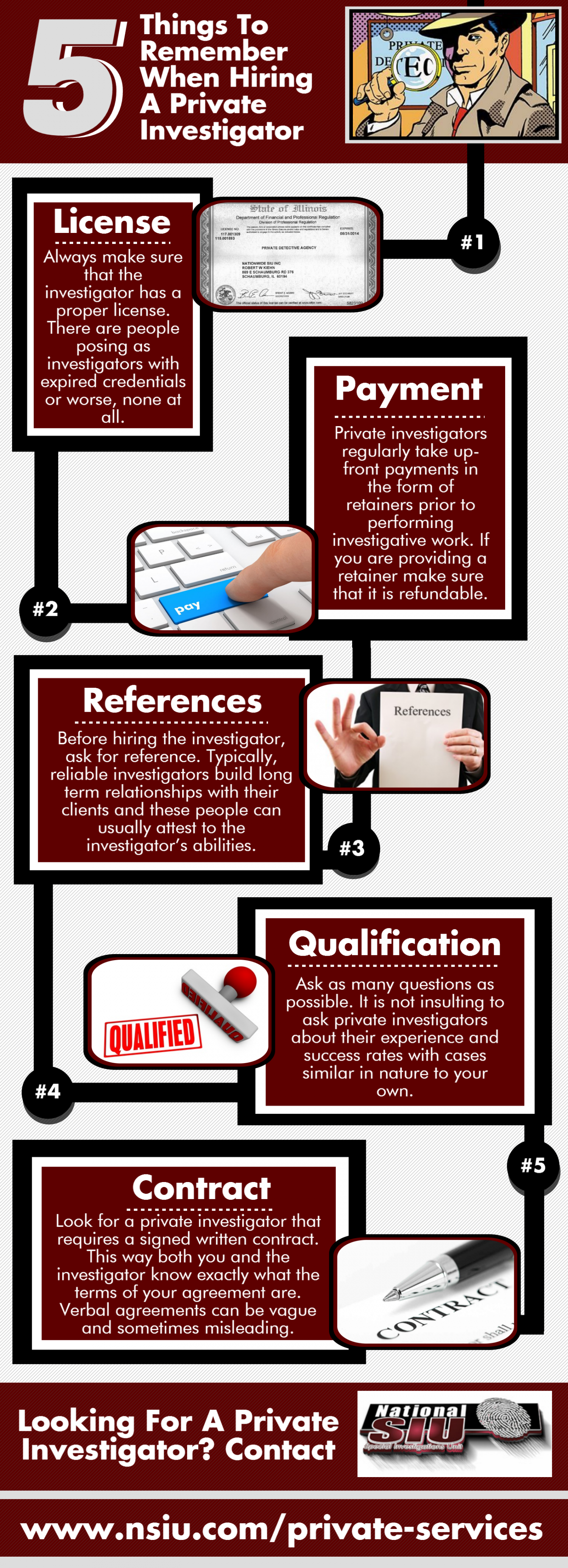 5 Things To Remember When Hiring A Private Investigator Infographic