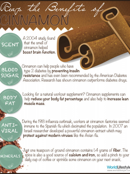 Reap The Benefits of Cinnamon Infographic