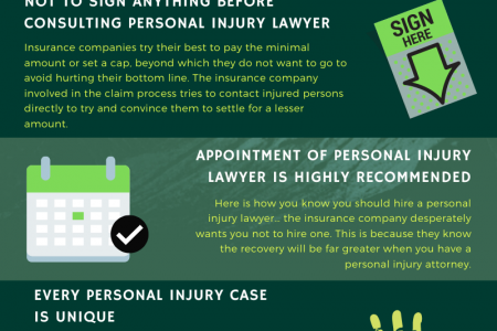 5 Things you should be mindful of about Personal Injury Cases Infographic