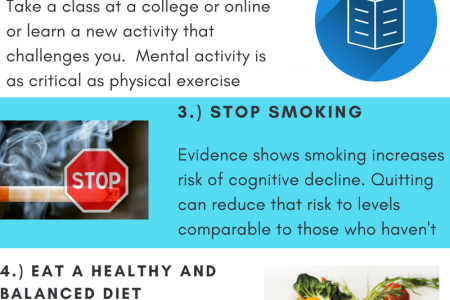5 Tips for a Healthy Brain Infographic