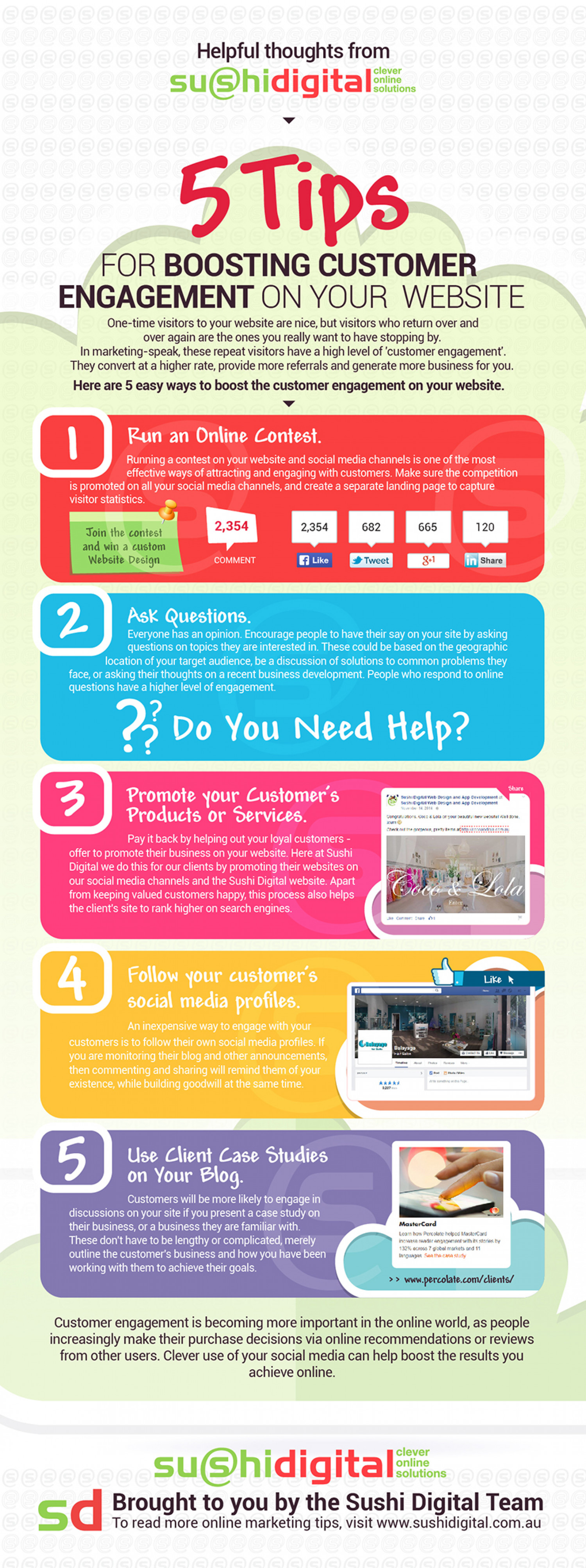 5 Tips for Boosting Customer Engagement on Your Website Infographic
