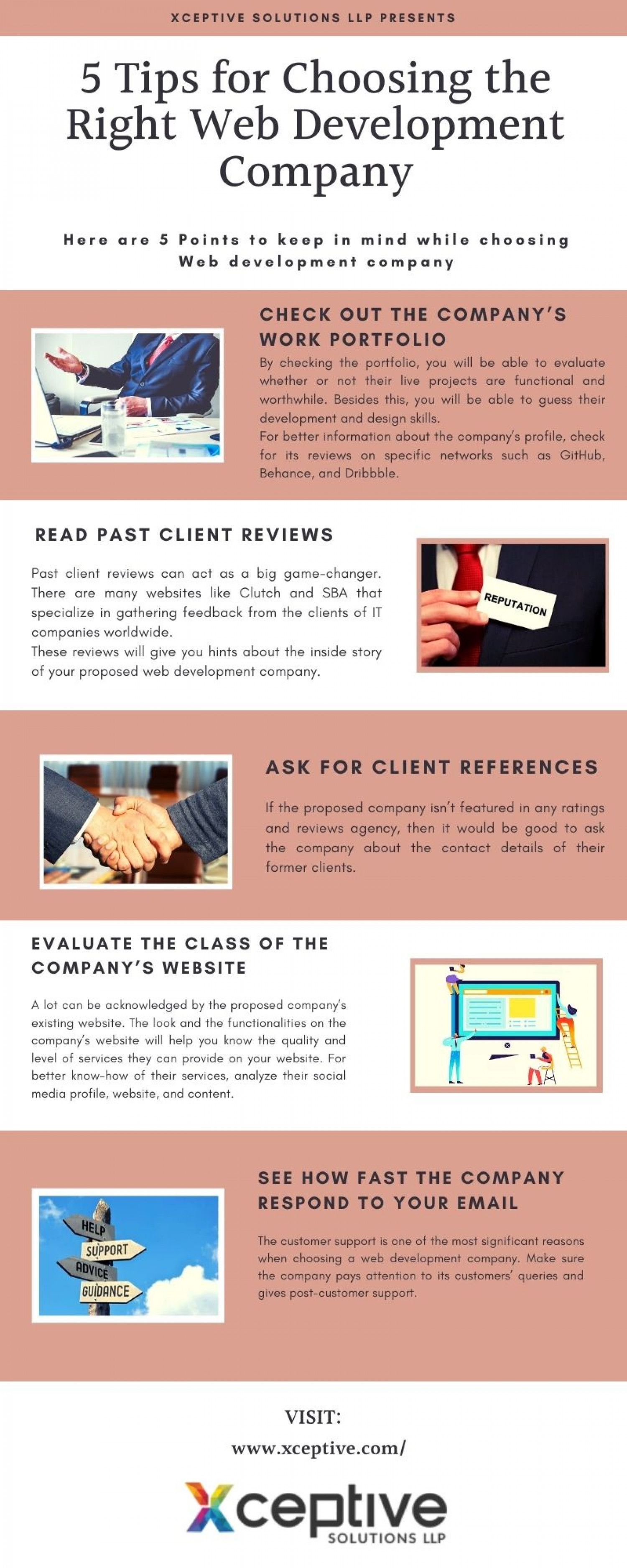 5 Tips for Choosing the Right Web Development Company Infographic