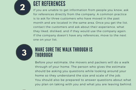 5 Tips for Finding the Best Movers and Packers Infographic