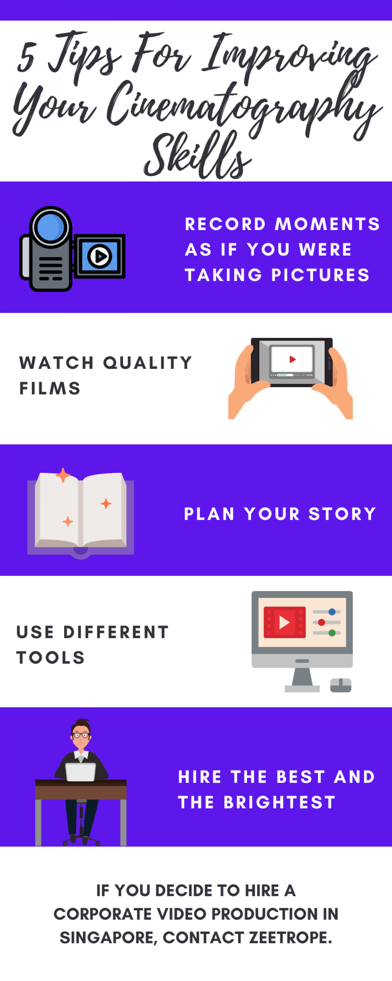 5 Tips For Improving Your Cinematography Skills Infographic