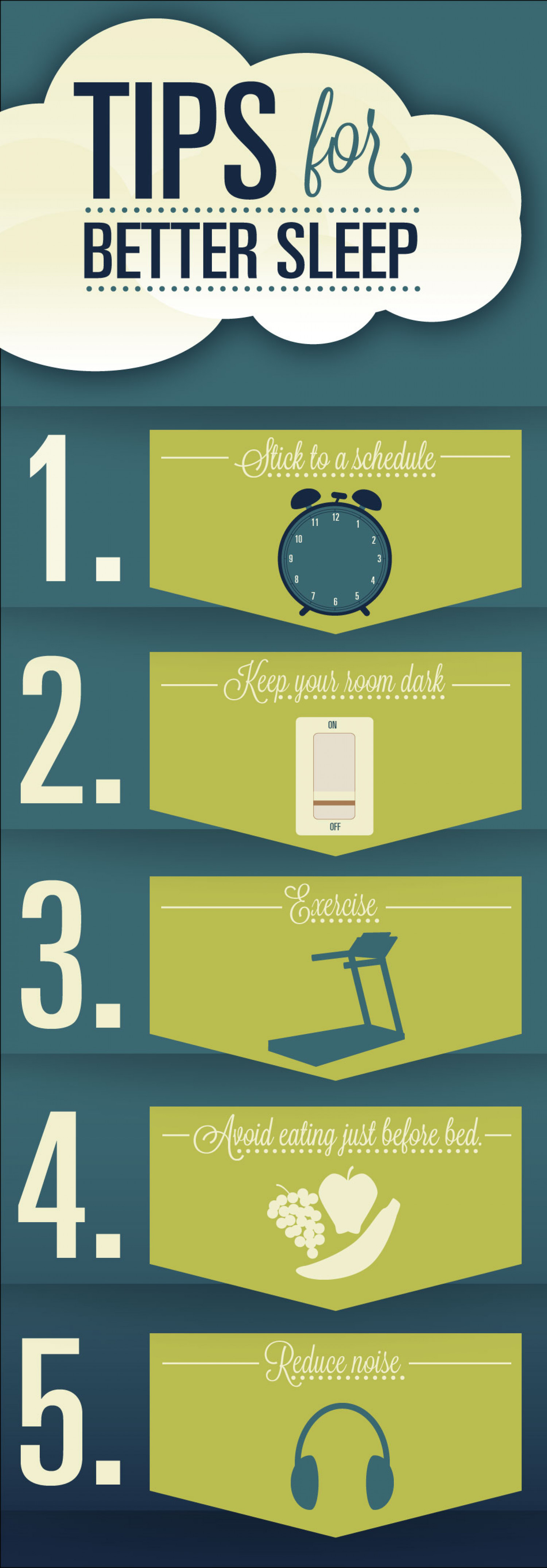 5 Tips for peaceful sleep  Infographic