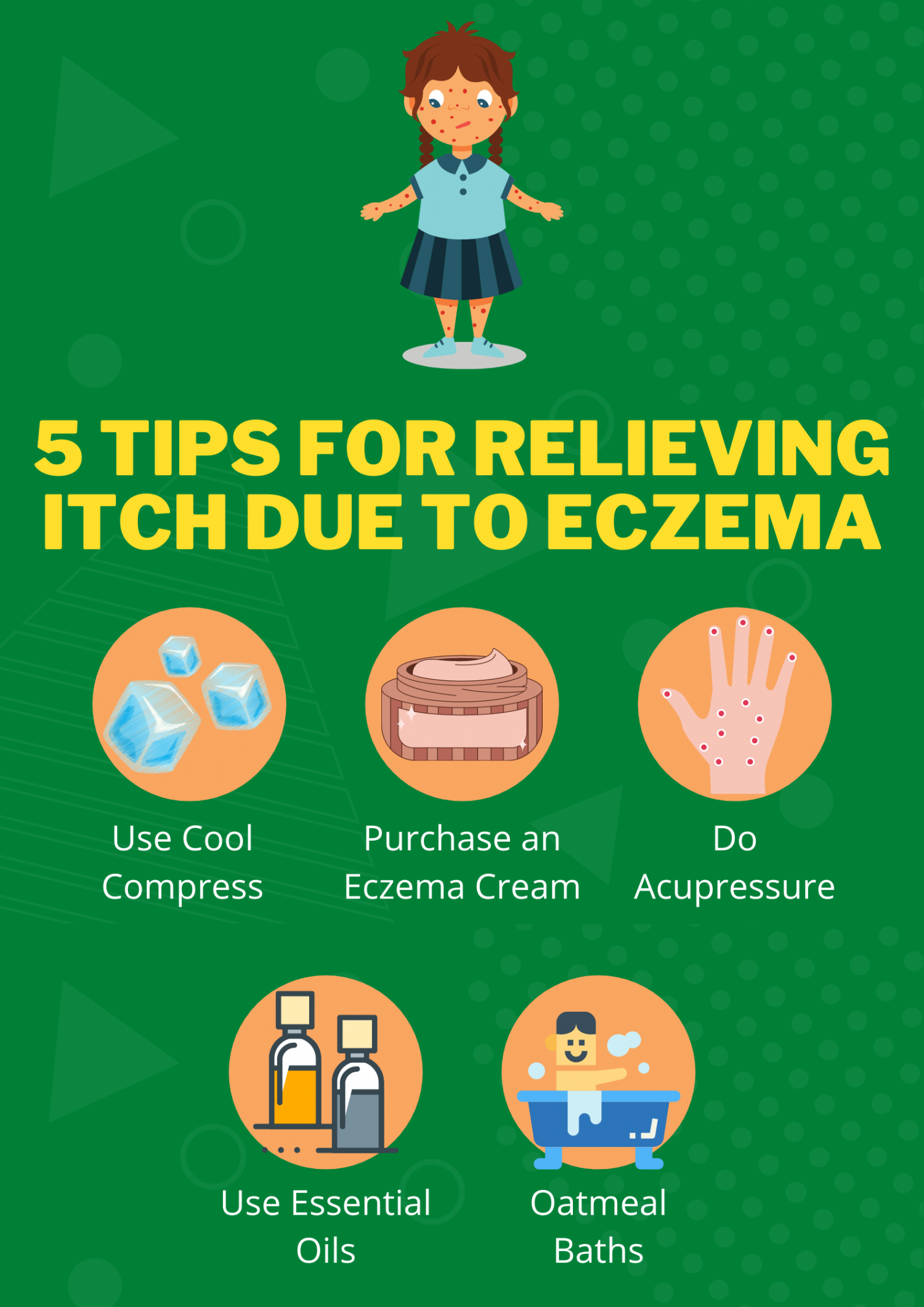 5 Tips for Relieving Itch Due to Eczema Infographic