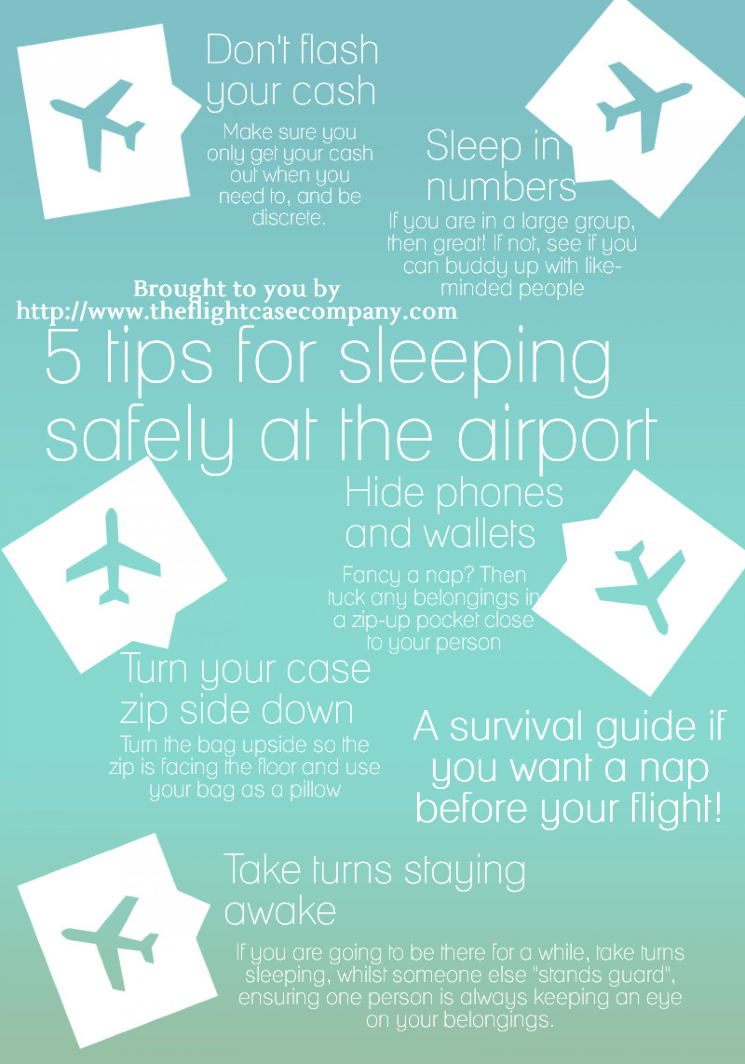 5 Tips for Sleeping Safely at the Airport Infographic