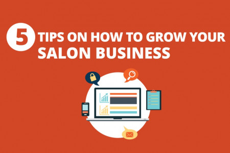 5 Tips On How To Grow Your Salon Business Infographic