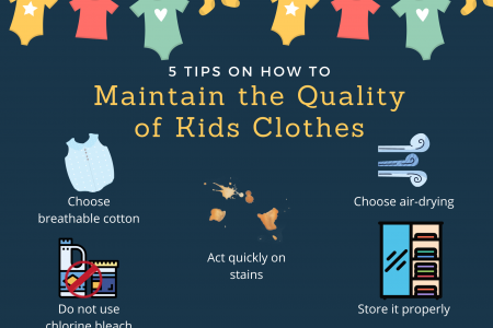 5 Tips on How to Maintain the Quality of Kids Clothes Infographic