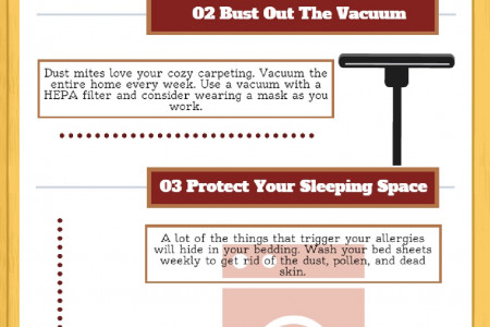 5 Tips On How You Can Sleep Allergy Free Infographic