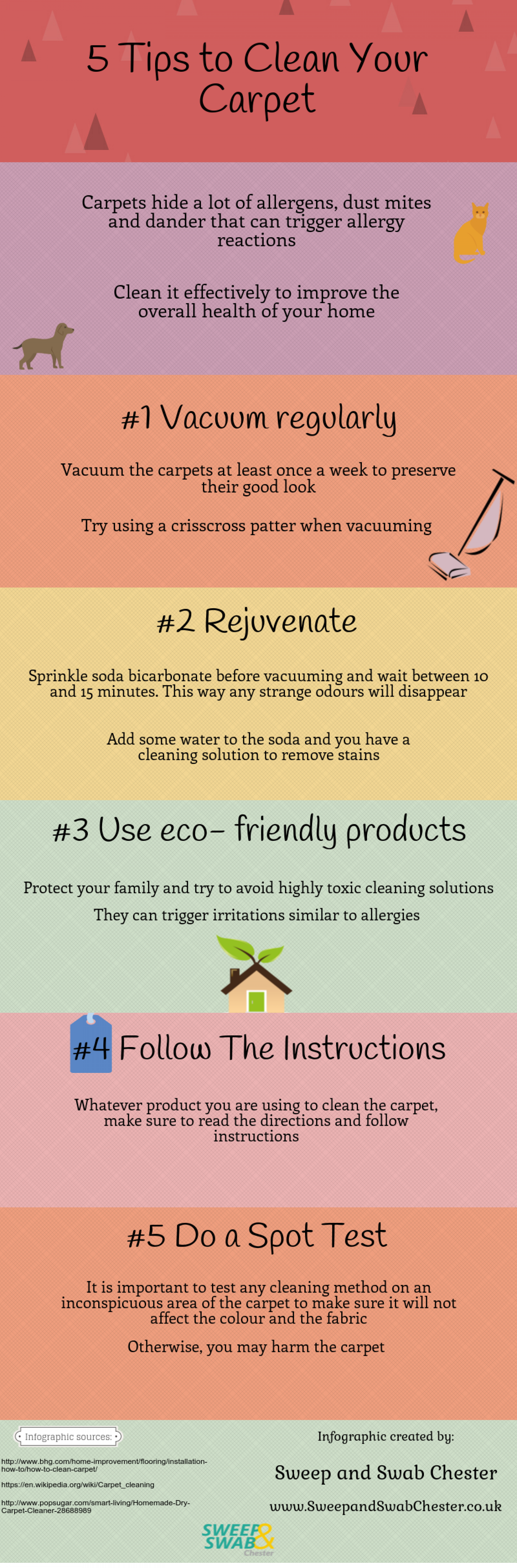 5 Tips to Clean Your Carpet Infographic