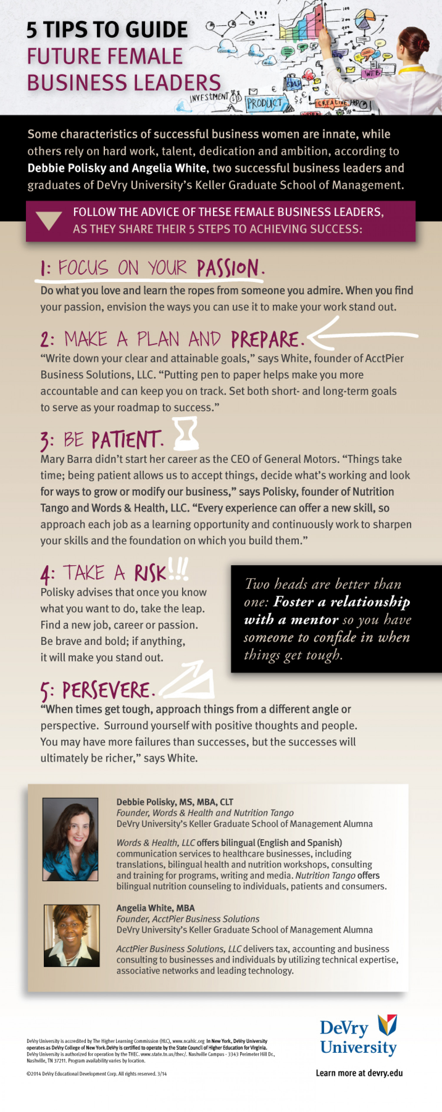 5 Tips to Guide Future Female Business Leaders  Infographic