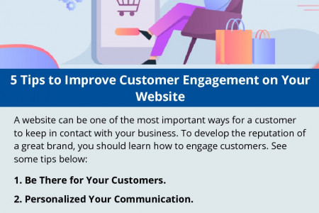5 Tips to Improve Customer Engagement on Your Website Infographic