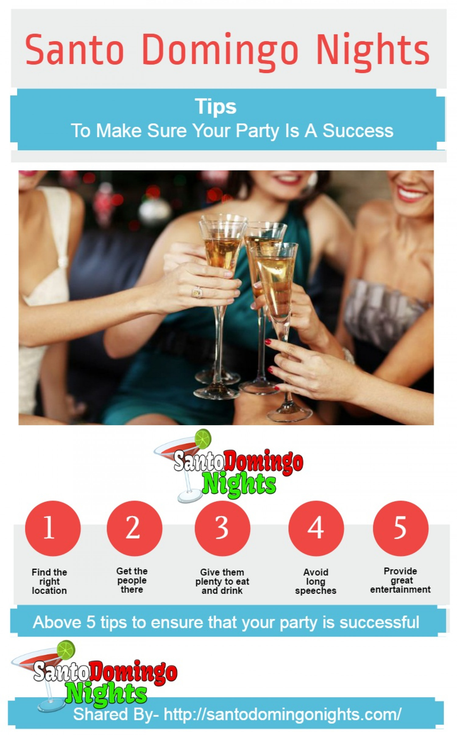 5 Tips To Make Sure Your Party Is A Success Infographic