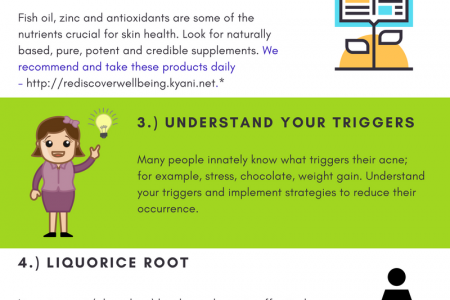5 Tips To Reduce - Even Eliminate - Acne, Naturally Infographic
