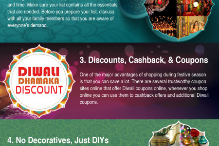 5 Tips To Save More this Diwali Infographic