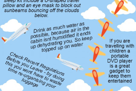 5 top tips on how to have a good flight Infographic