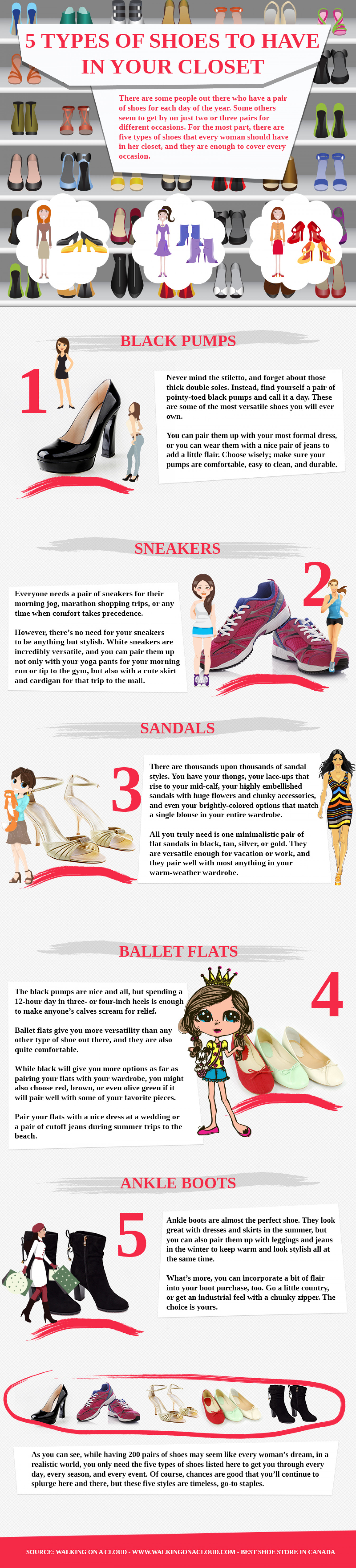 5 Types of Shoes to Have in Your Closet Infographic