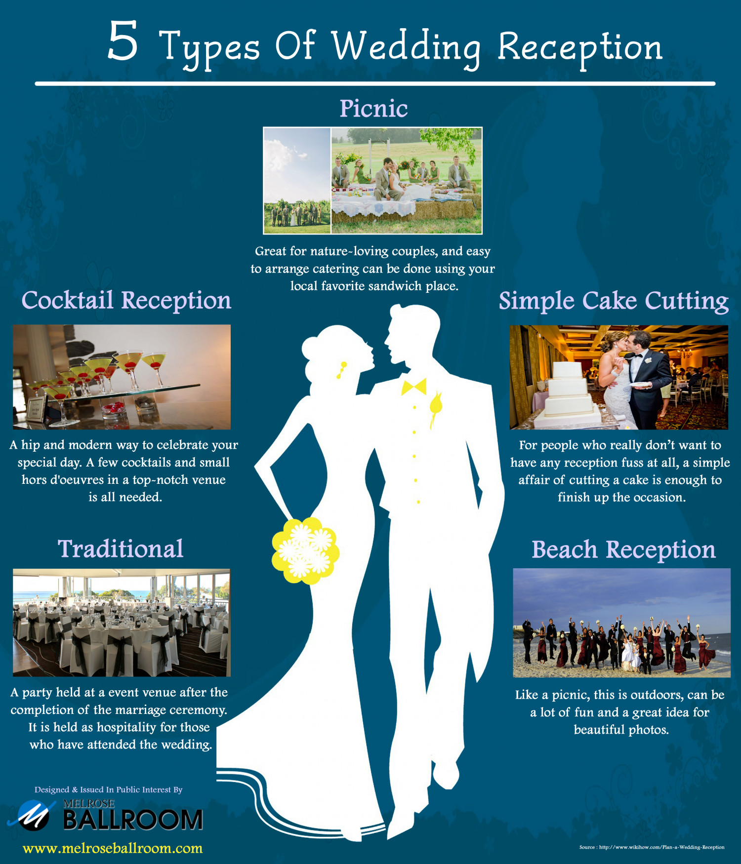 5 Types Of Wedding Reception Infographic
