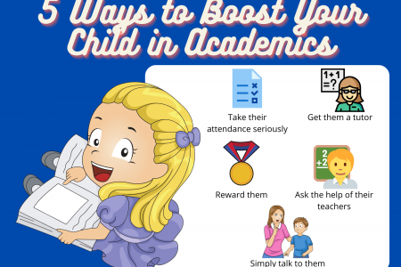 5 Ways to Boost Your Child in Academics Infographic