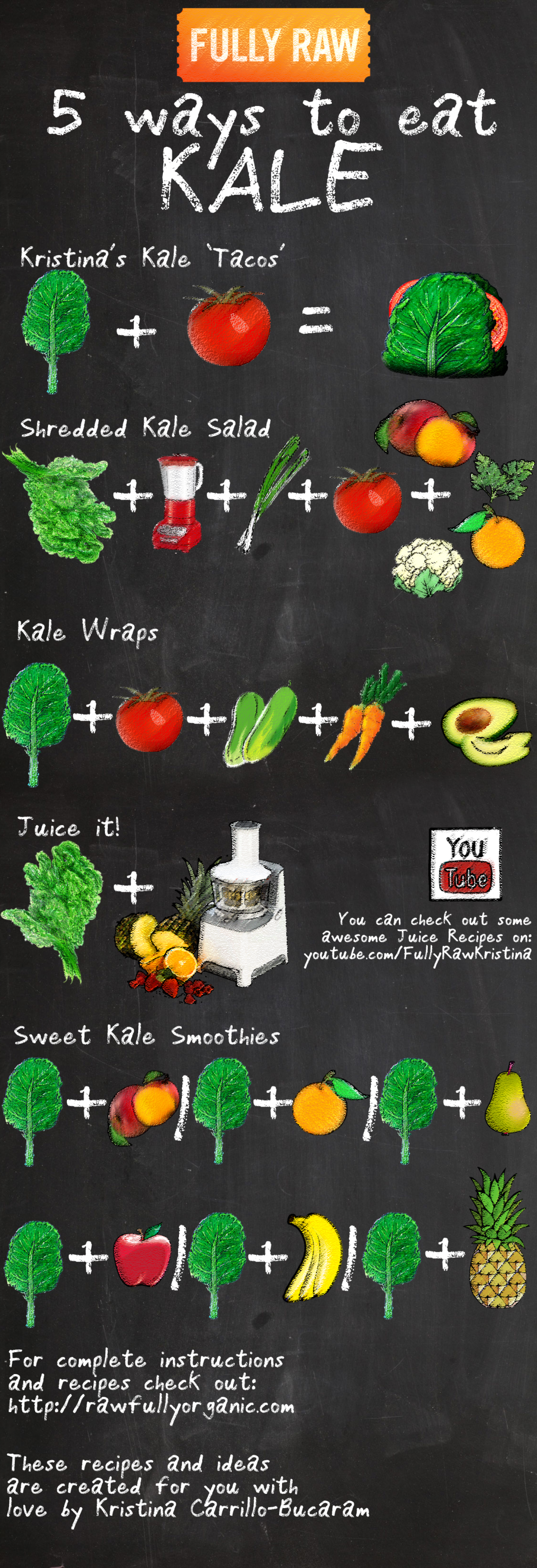 5 Ways to Eat Kale Infographic