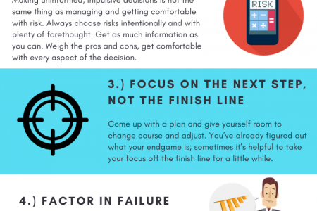 5 Ways to Get Comfortable Taking Risks in Business Infographic