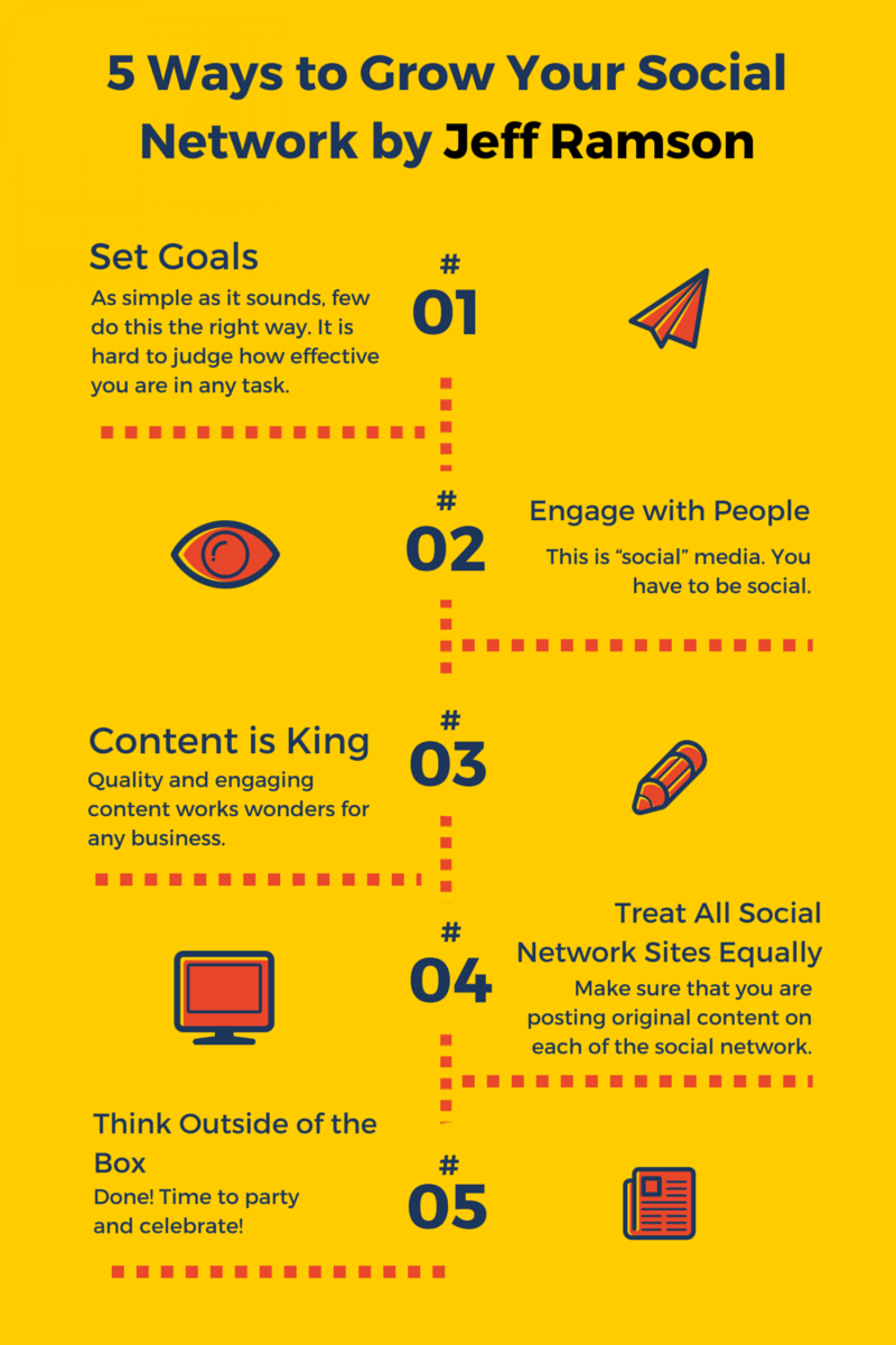 5 Ways to Grow Your Social Network Infographic