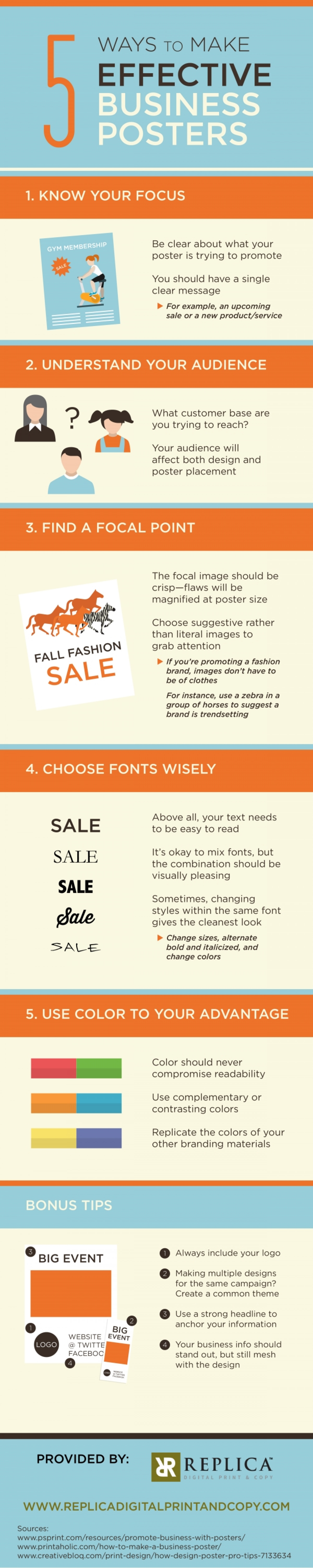 5 Ways to Make Effective Business Posters Infographic