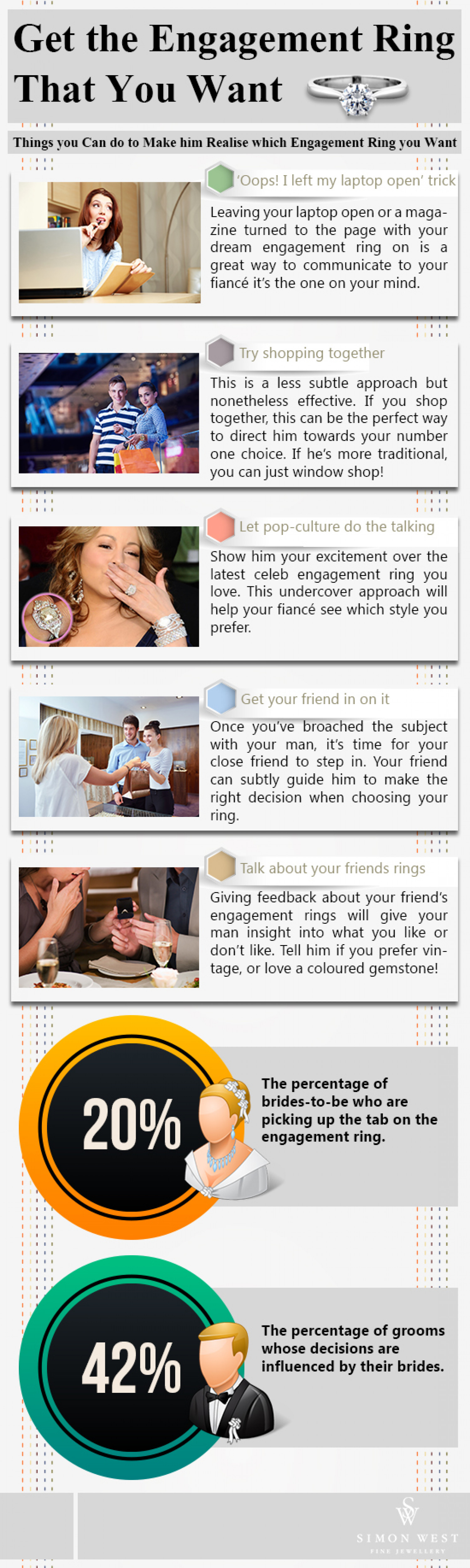 5 Ways To Make Him Realise Which Engagement Ring You Want  Infographic