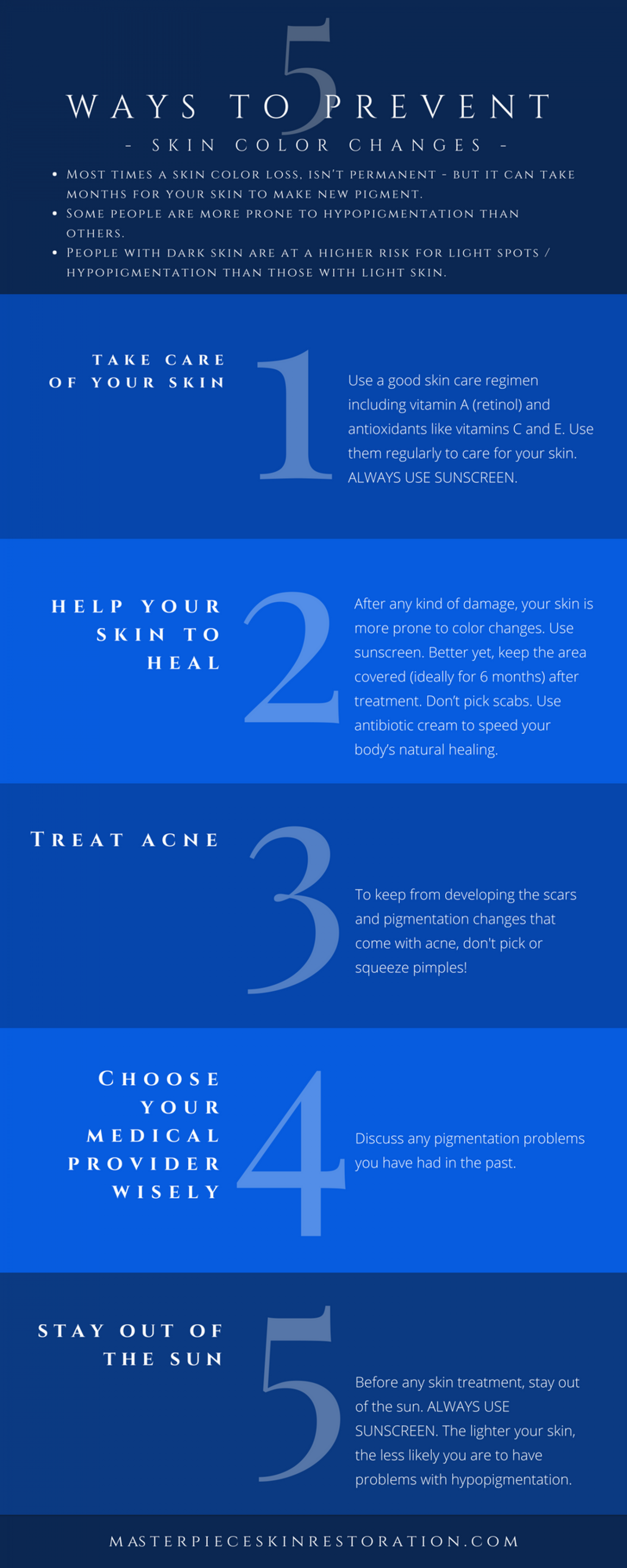 5 Ways to Prevent Skin Color Changes Infographic
