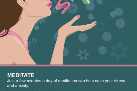 5 ways to Reduce Stress Infographic
