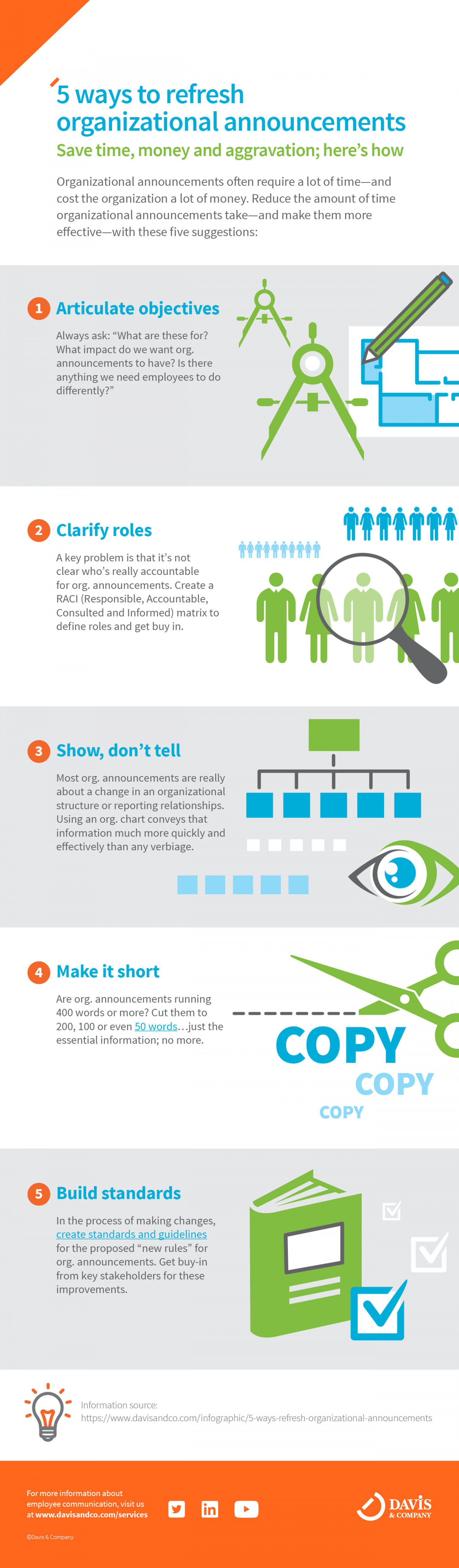5 ways to refresh organizational announcements Infographic