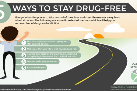 5 Ways to Stay Drug Free | Today Alcohol Rehabilitation Center Infographic