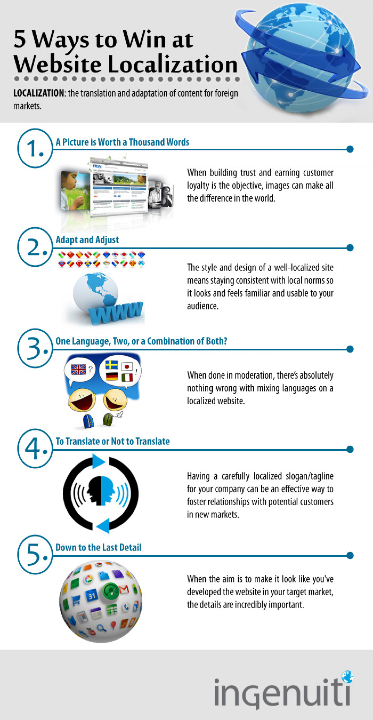 5 Ways to Win at Website Localization Infographic