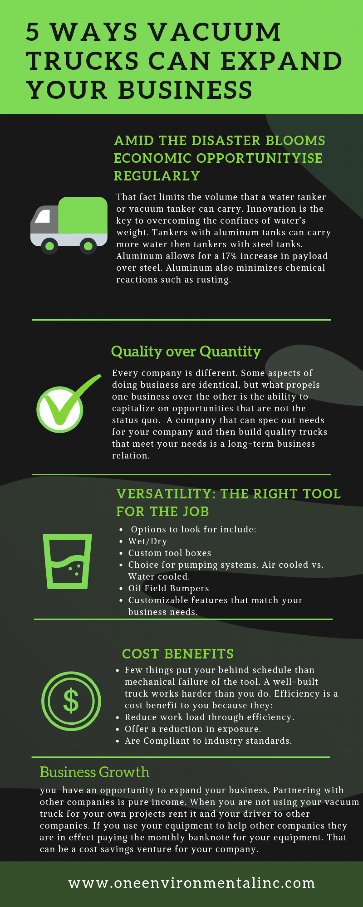 5 Ways vacuum trucks can expand your business Infographic