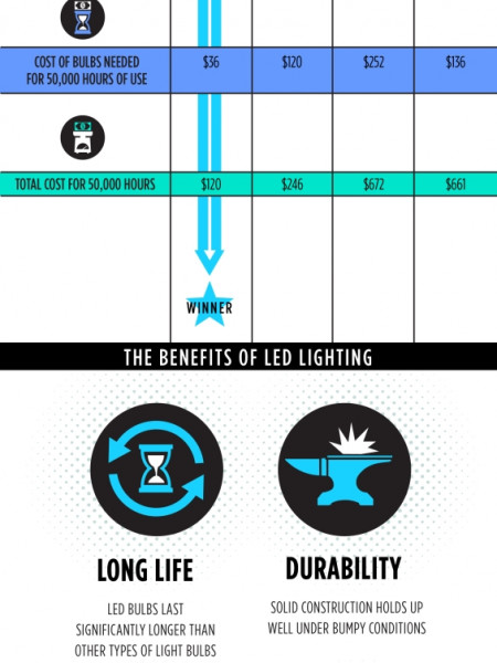50 Shades of White Infographic