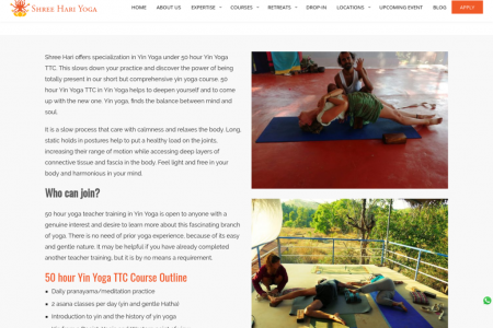 50 Hour Yin Yoga Teacher Training in India Infographic