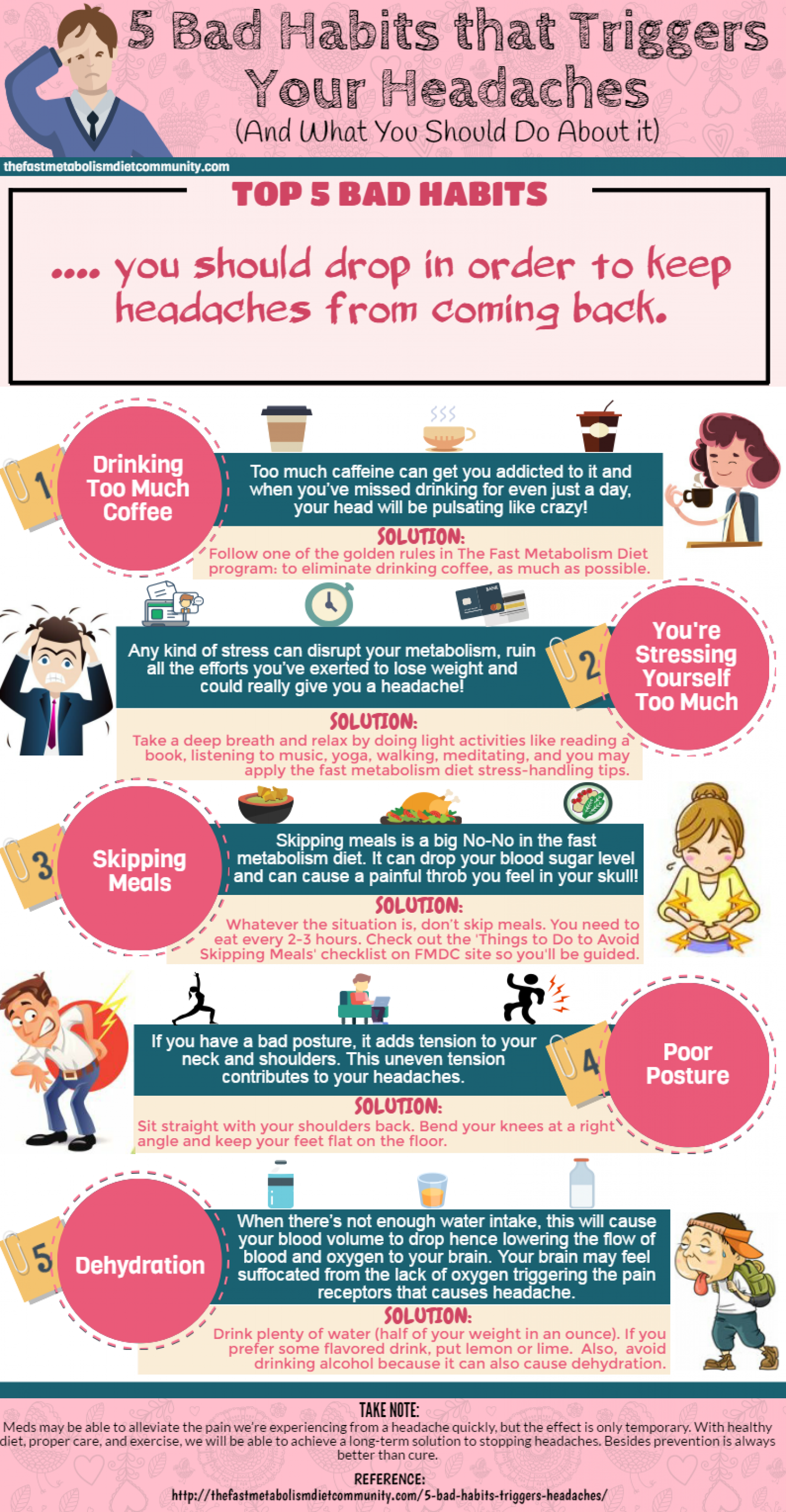 5 Bad Habits that Triggers Your Headaches (And What You Should Do About it) Infographic