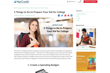 5 Things to Do to Prepare Your Kid for College Infographic