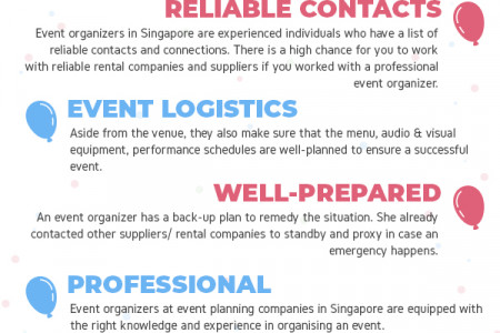 6 Advantages of Hiring an Event Organizer Infographic