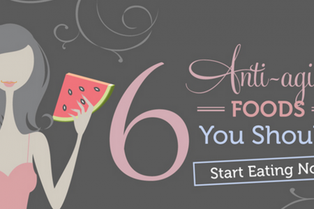 6 Anti-Aging Foods You Should Start Eating Now Infographic