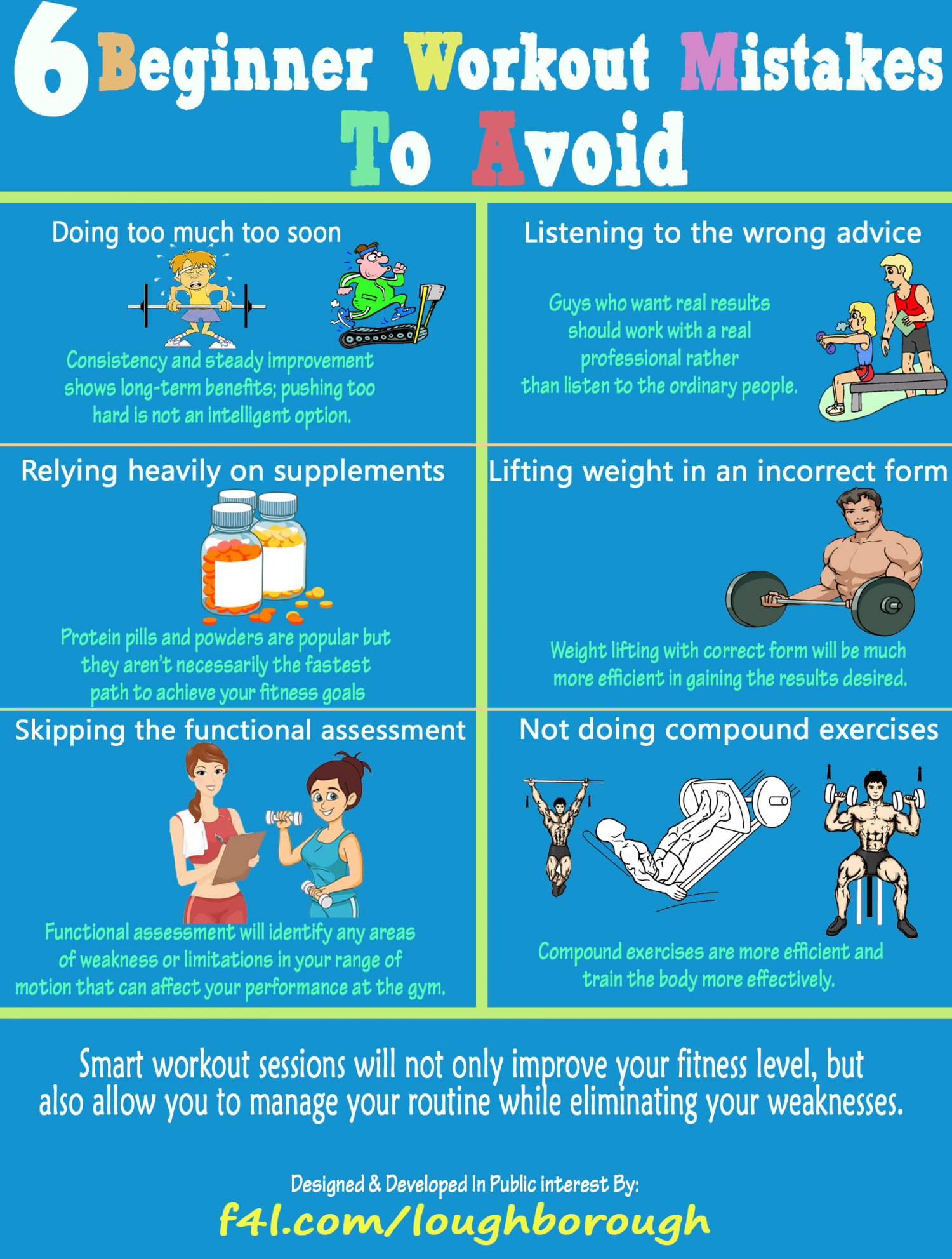 6 Beginner Workout Mistakes To Avoid Infographic