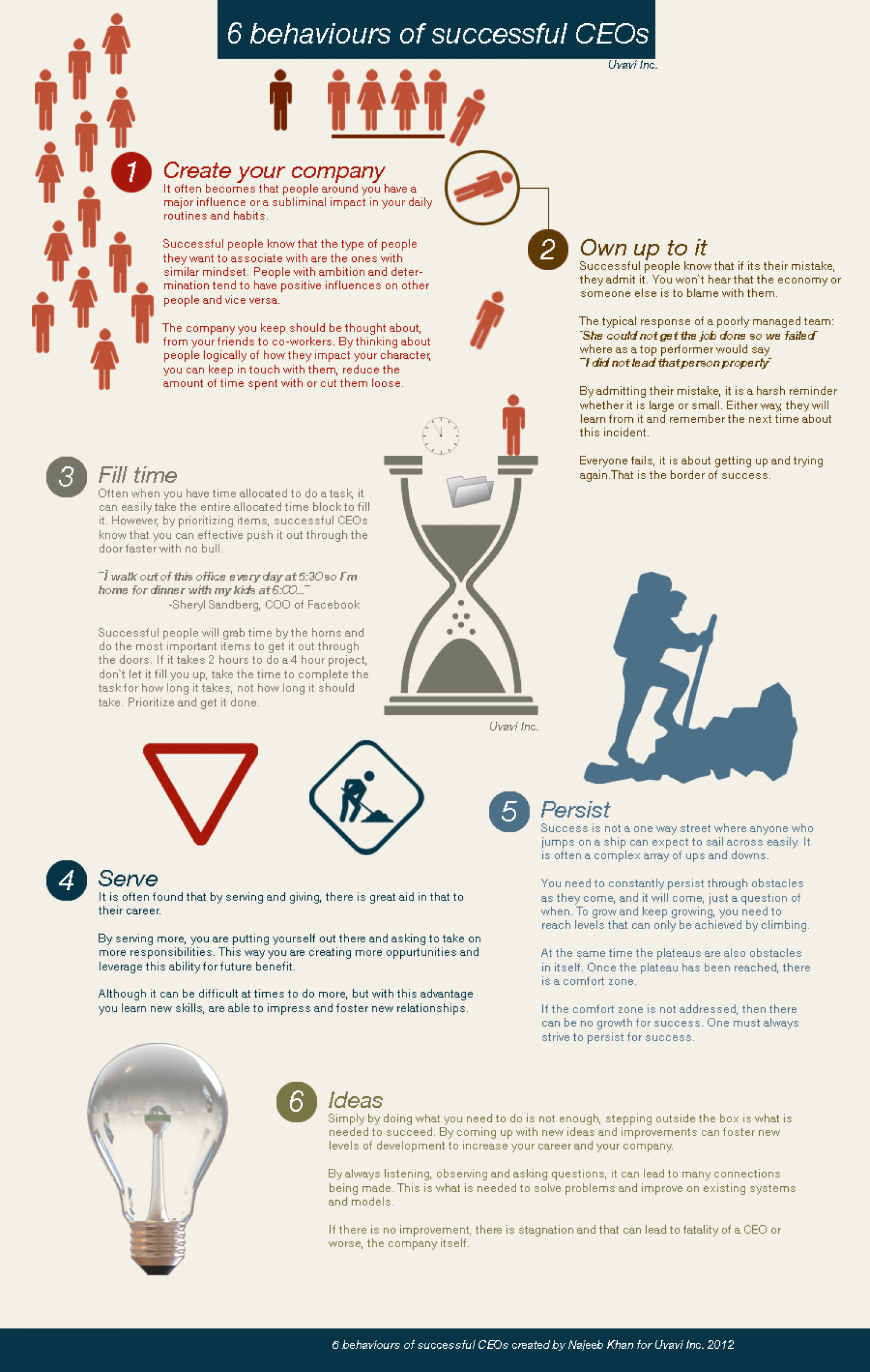 6 behaviors of successful CEOs Infographic