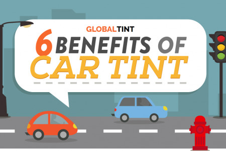 6 Benefits of Car Tint Infographic
