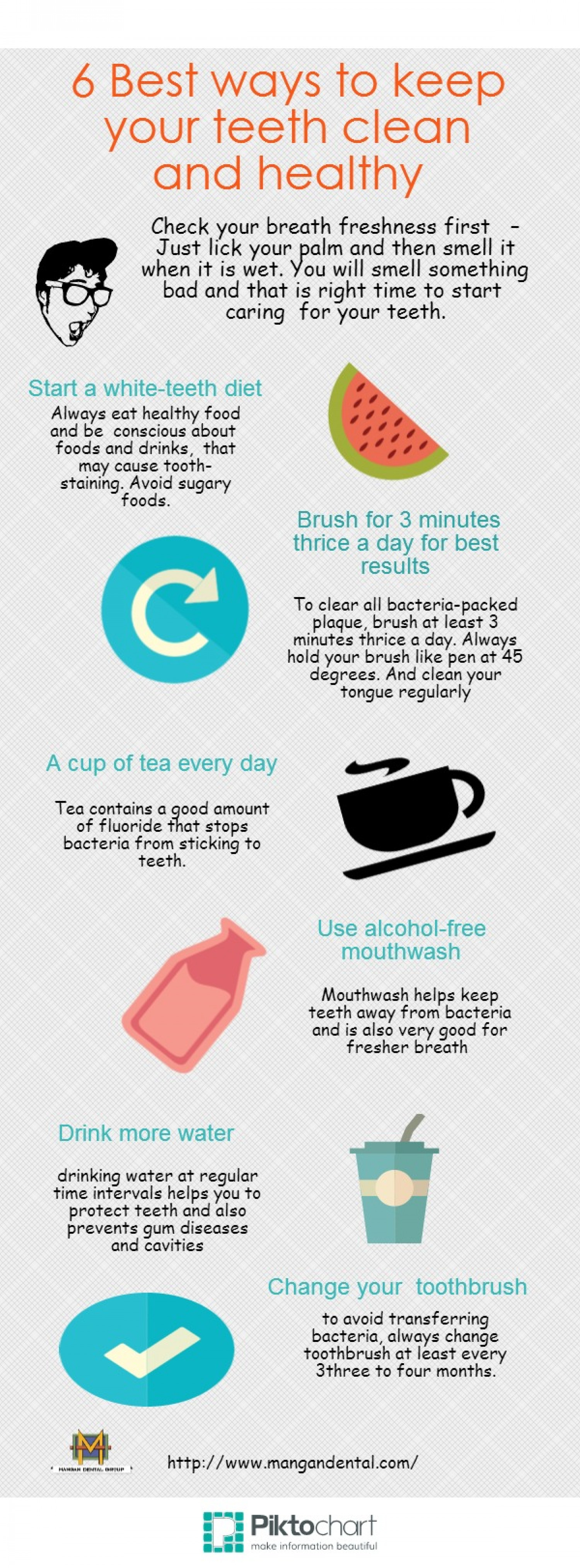 Enam Best Ways To Keep Your Teeth Clean And Healthy Infographic